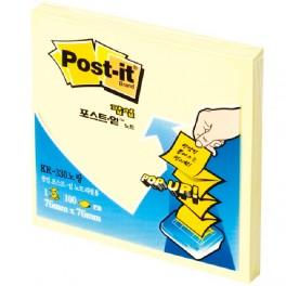 포스트-잇(팝업팩 리필/KR-330/노랑)